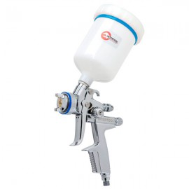 HVLP II Профессиональный краскораспылитель 1,3 мм, верхний пластиковый бачок 600мл INTERTOOL PT-0105