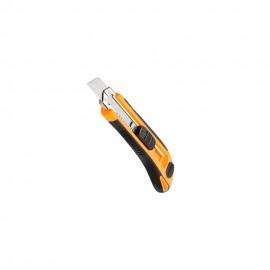 Пластиковый сегментный нож с металлической направляющей Tolsen 18х100мм