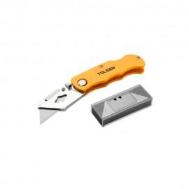 Складной алюминиевый нож-трапеция Tolsen SK5 100x18,5x0,4мм