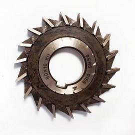 Фреза дисковая трехсторонняя с равнонаправленным зубом  80х10х27 Р6М5 USSR