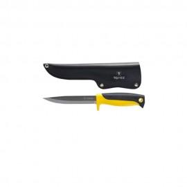 Универсальный нож TOPEX 98Z103 с кожаным чехлом