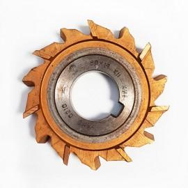 Фреза дисковая трехсторонняя с разнонаправленными зубьями  80х14х27 Р6М5 USSR